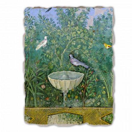 "stora fresk romersk konst ""Garden med Hermes och Fontana"" del."