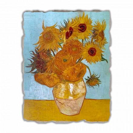 "stora fresk handgjorda Vincent Van Gogh ""vas av solrosor"""