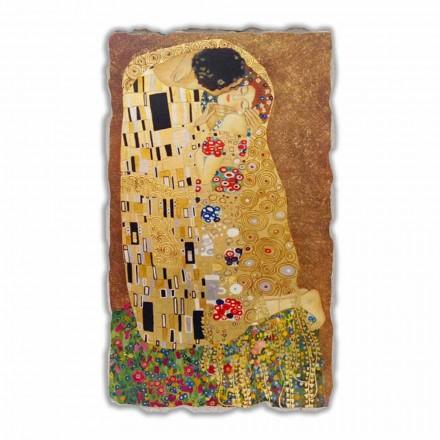 """stora fresk gjort i Italien Gustav Klimts """"The Kiss"""""""