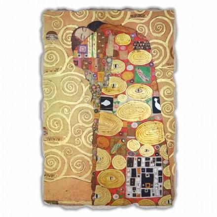 """stora fresk gjort i Italien Gustav Klimt """"The Hug"""""""