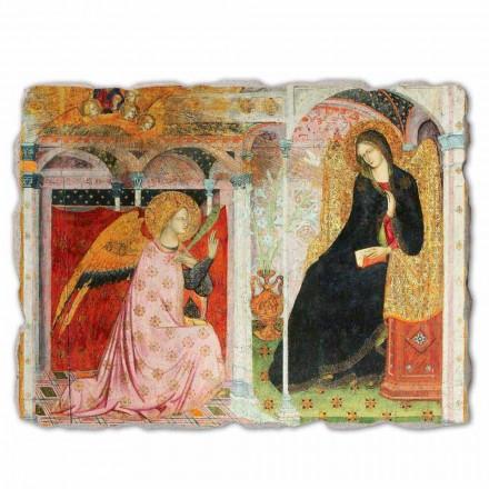 """stora fresk Frate Ilario från Viterbo """"Bebådelsen"""" del."""