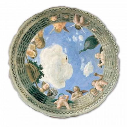 """stora fresk Mantegna """"Oculus med Cherubs och Dame utsikt"""""""