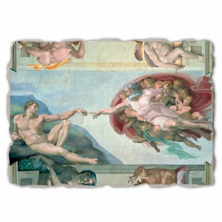 """stor fresk av Michelangelos """"skapelse av Adam"""", handgjorda"""