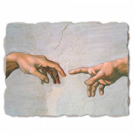 "stor fresk av Michelangelos ""skapelse av Adam"" särskilt"