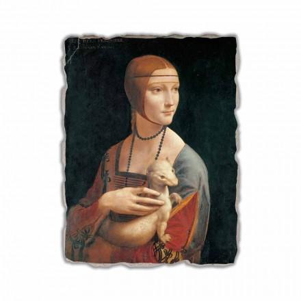 """Leonardo da Vinci fresco """"Damen med hermelinen"""""""