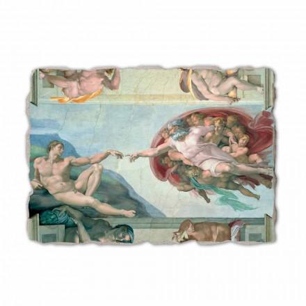 """Michelangelos fresk """"skapelsen av Adam"""", handgjorda"""