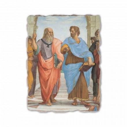 """Raphael fresco """"skola av Athens"""" del. Platon och Artistotele"""