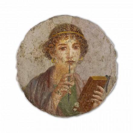 """Fresk reproduktion gjort i Italien romersk konst """"The Poet"""""""