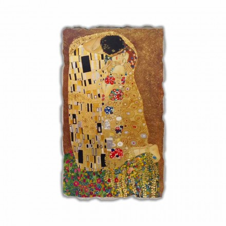 "Fresk reproduktion made in Italy Gustav Klimts ""The Kiss"""