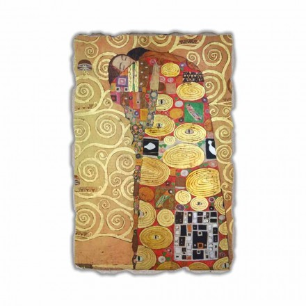 "Fresk reproduktion made in Italy Gustav Klimt ""The Hug"""