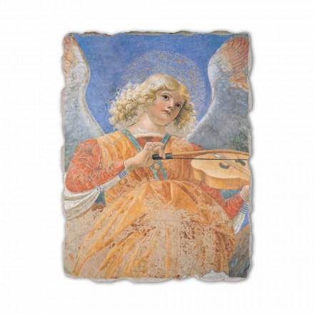 "Fresco reproduktion Melozzo da Forlì ""Ängelmusiker"""