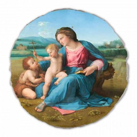 "Fresco reproduktion Raffaello Sanzio ""Alba Madonna"", 1510"