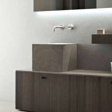 Tall Square Countertop Tvättställ i modern designsten - Farartlav1