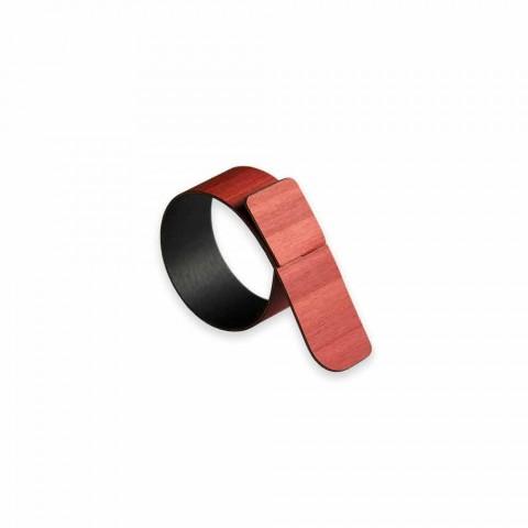Ring servettring i trä och tyg Tillverkad i Italien - Abraham