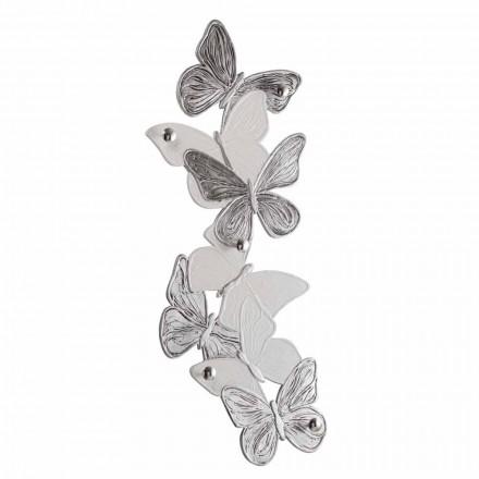 Vägghängare med designfjärilar 5pomelli tillverkad i Italien Brice