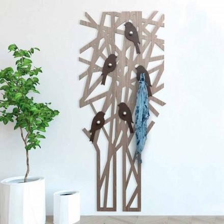 Väggrockställ i färgat trä med modern design - Alberuccell