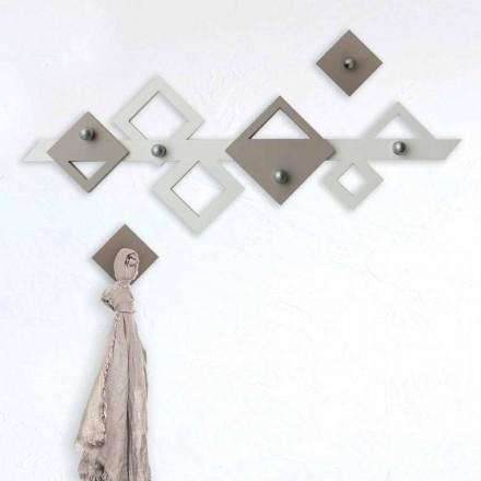 Vit och beige träväggfäste Modern geometrisk design - Klimt