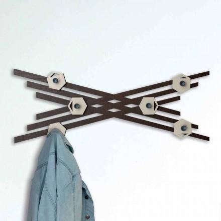 Väggfäste i modern design i färgat lackerat trä - Picassino