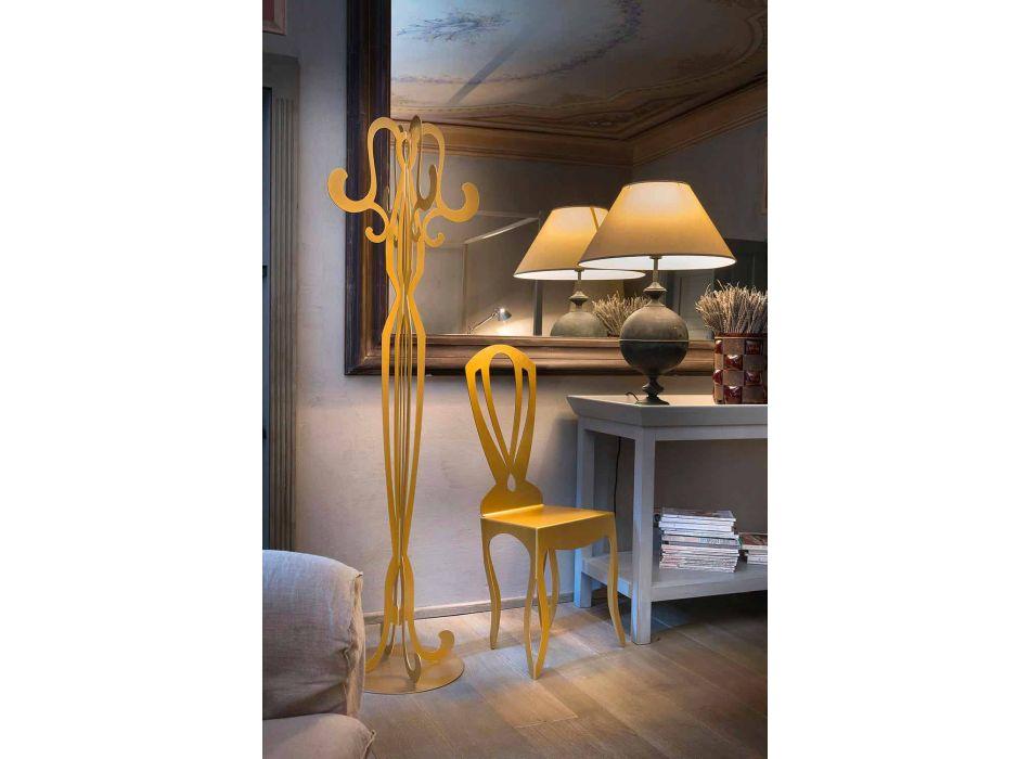 Åtta Hook Iron Design Coat Stand Made in Italy - Giunone
