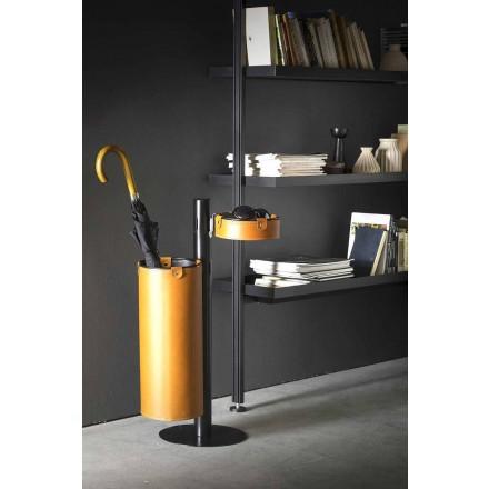 Läderhängare i modern design tillverkad i Italien - Adelfo