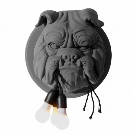 Vägglampa med 3 lampor i grå eller vit keramisk modern design - Dogbull