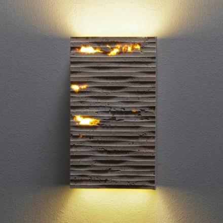 Vägglampa i sten och metall Serafini Marmi Pedra tillverkad i Italien
