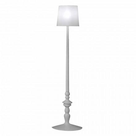 Högväggsapplikation i vit keramik och lampskärm i linnedesign - Cadabra