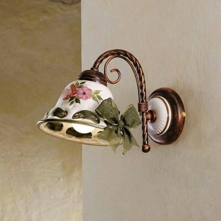 Skans keramiska vägg dekorerade rustika Ferroluce Napoli