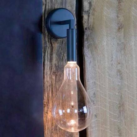 Utomhus vägglampa i järn och aluminium med LED ingår Tillverkad i Italien - Luccico