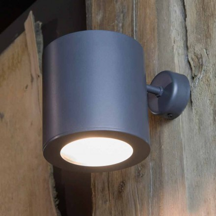 Utomhus vägglampa i järn och aluminium med LED ingår Made in Italy - Rango