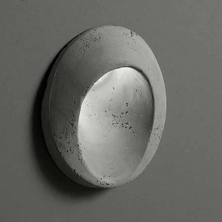Oval utomhusvägglampa i färgad lera Oval - Toscot