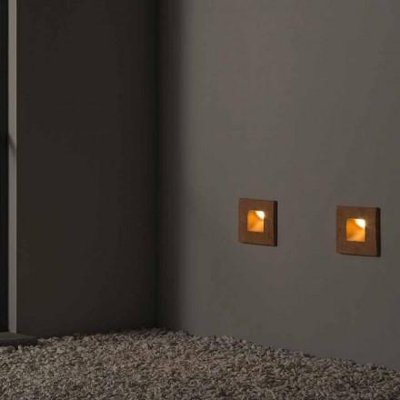 Fyrkantig vägglampa i färgad lera Square - Toscot