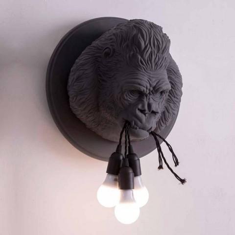 3 lampor vägglampa i Gorilla keramikgrå eller vit design - Rillago