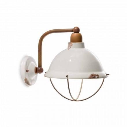 Keramiska vägg lampetter och metall Skyler industriell stil