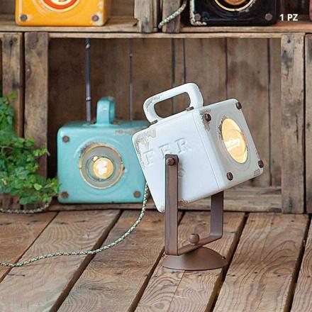Wall vintage-stil industriell keramik och järn Julia