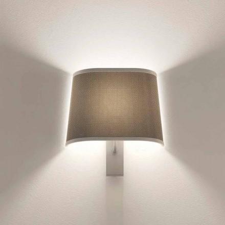 Design vägglampa i metall silver eller vit finish Made in Italy - Jump