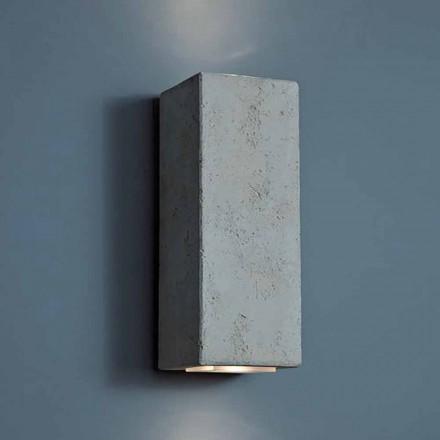 LED design utomhus vägglampa i lera hög 24cm Smith - Toscot