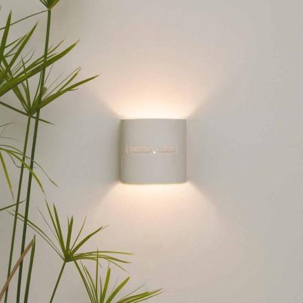 Modern två-ton nebulit vägglampa In-es.artdesign Punto Luce design