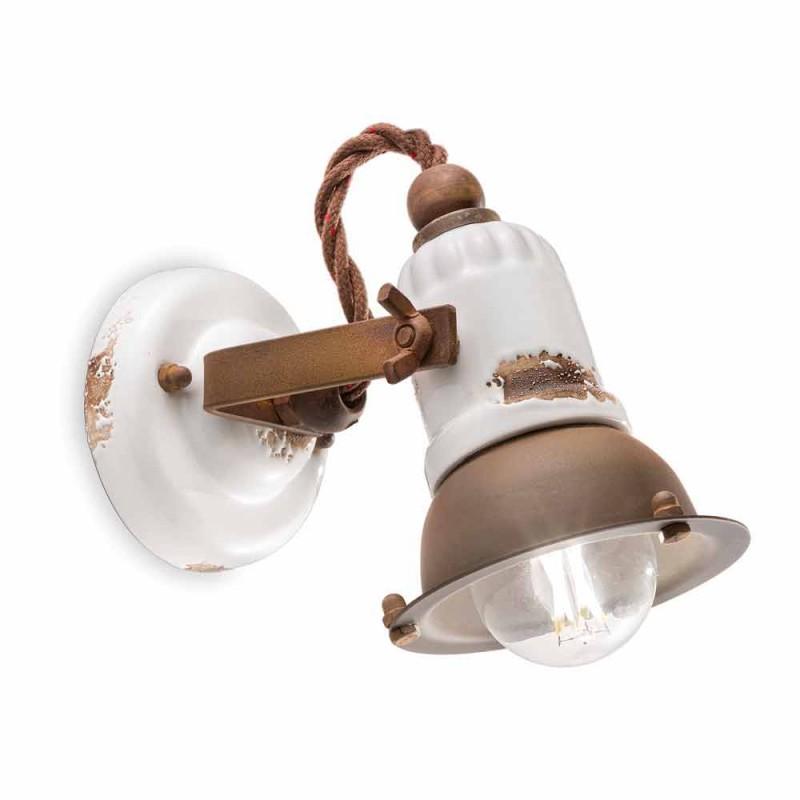 Applikationer justerbar keramik och metall spotlight Kendra Ferroluce