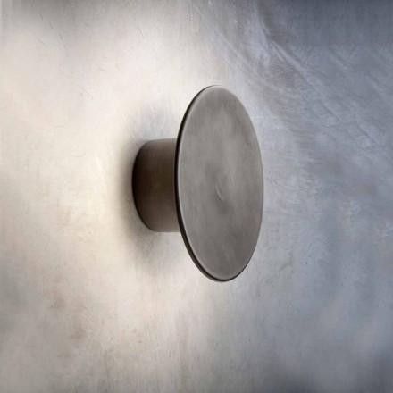 Vägglampa för modernt exteriör i koppar Tillverkad i Italien - Pasdedeux Aldo Bernardi