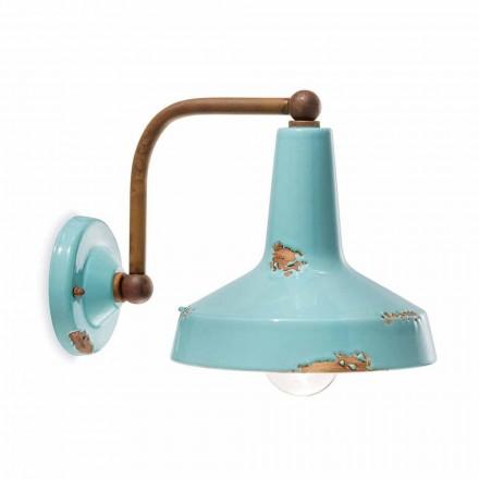 Applique tappning keramiska spotlight handgjorda Sandra Ferroluce
