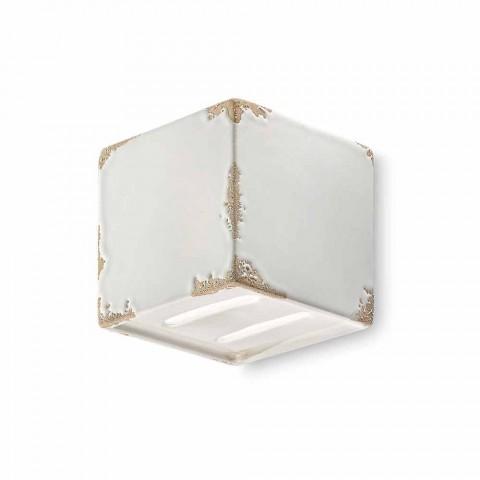 Applique tappning formad keramisk kub Connie Ferroluce