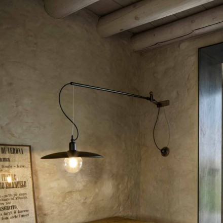 Vägglampa med vintage mässing med rörlig arm - Meridiana Aldo Bernardi