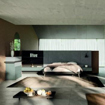 6 -Element sovrumsmöbler tillverkade i Italien - Ruby