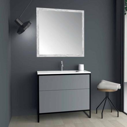 Golvstående badrumsmöbler med handfat och spegel Made in Italy Design - Cizco