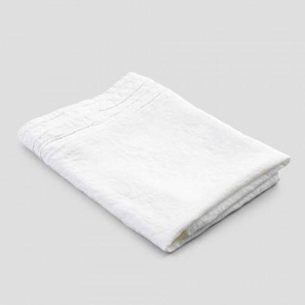 Italiensk handgjord lyxig vit handduk i linne - Jojoba