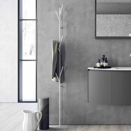 Golvrockställ i modern design i vit eller krommetall - Kottac