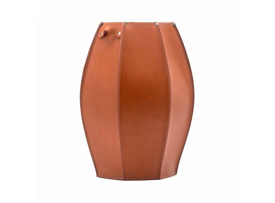 Audrey paraply står med modern design i läder, tillverkad i Italien