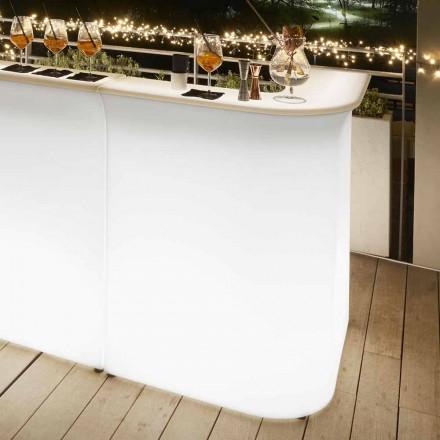 Utomhus hörn ljus skrivbord Slide Break Corner, gjord i Italien