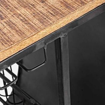 Barkonsol i mangoträ och Vespa i stål av modern design - sjalot